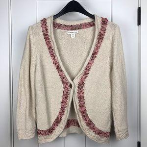 Coldwater Creek medium ribbon sweater cardigan